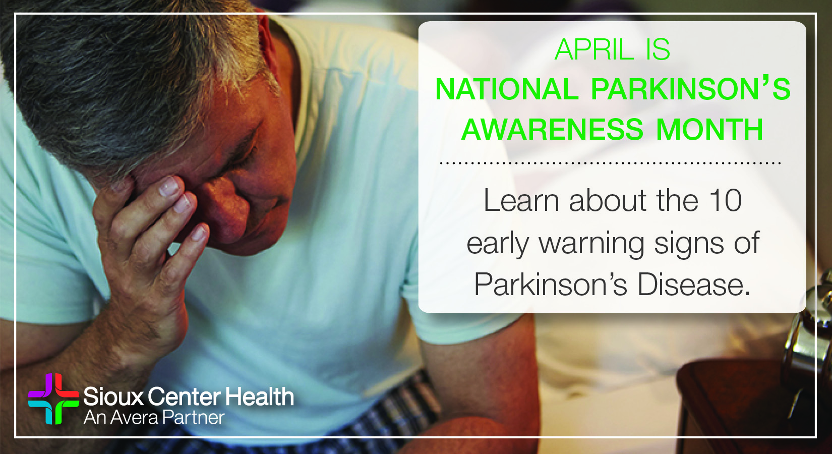 10 Early Warning Signs of Parkinson